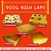 [De Cooking House] kueh lapis 900 gm with multiple flavor