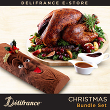 Delifrance Christmas Bundle - Turkey + FREE Joy Of Delifrance Log Cake
