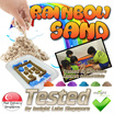 Rainbow Sand Bundles - TESTED IN SINGAPORE - Trusted by Child Care Centre ( Kinetic Type Sand  ) 3KG For $16.90 with FREE Accessories