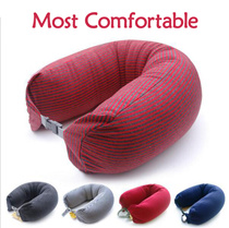 Magically Soft/Cotton+Microplasma▶Multi-purpose Flight Pillow-Rest Cushion◀GEB-Ergonomic design Neck pillow/ Naps/ Waist pad/ Leg pad/ Body engineering Design Microplasma Travel cushion