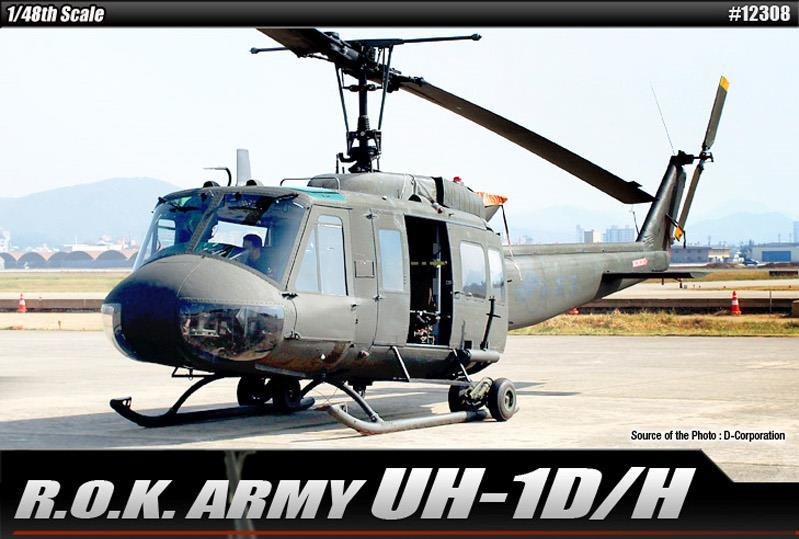 【クリックでお店のこの商品のページへ】ACADEMY Plastic Model Kit 12308 | R.O.K. ARMY UH-1D/H Italeri | SCALE 1/48 | Model Building | Ship&Tank&Plane&Carrier Building Kit [Free Shipping]
