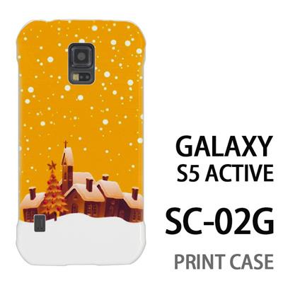 GALAXY S5 Active SC-02G 用『1222 雪降る町 黄』特殊印刷ケース【 galaxy s5 active SC-02G sc02g SC02G galaxys5 ギャラクシー ギャラクシーs5 アクティブ docomo ケース プリント カバー スマホケース スマホカバー】の画像