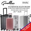 [Ready In-Stock] Many Size Available New Improved Hard Shell Luggage Aluminium Alloy Frame ABS Polycarbonate. TSA Lock.
