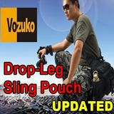 ORIGINAL VOZUKO OUTDOOR BAG**Military**Tactical**Drop Leg Pouches**Waist Sling Bag Pouch**ARMY/POLICE/DEFEND USE