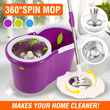 360 Degree Spin Mop - Easier to clean your home
