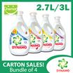 [Carton Sale] Dynamo 4 x Power Gel 3L/2.7L Regular/Color Care/Anti-Bacteria/Downy Passion