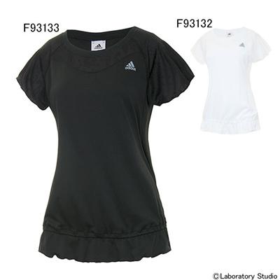 アディダス (adidas) レディース AL S/S Tシャツ DDW26 [分類:ランニング Tシャツ (レディース)]の画像