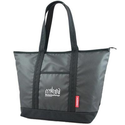 マンハッタンポーテージ(Manhattan Portage) ロゴプリントチェリーヒルトートバッグ MP Logo Printed Cherry Hill Tote Bag MP1307ZP BLACK ブラック 【トートバッグ】の画像