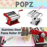 Stainless Steel Pasta Roller DIY Maker ✮ Handmade Pasta Maker ✮ 9 noodle thickness to choose from ✮ Make noodles ✮ Make dumpling dough