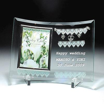 オリジナル名入れフォトフレーム/出産祝い/誕生日プレゼント/記念品/名前入り/YU-1の画像
