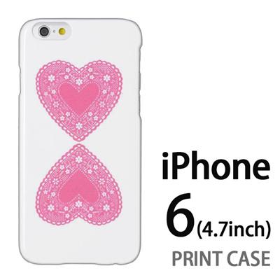 iPhone6 (4.7インチ) 用『0825 ピンクハート』特殊印刷ケース【 iphone6 iphone アイフォン アイフォン6 au docomo softbank Apple ケース プリント カバー スマホケース スマホカバー 】の画像