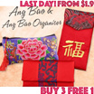 Last Day!Every 3 pc free 1.New year ★Hand made gift 2017 Ang Pow Red Packet  Hong Bao Chinese Ang Bao Organiser Fancy Money Notes Organiser CNY abalone