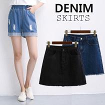NEW High waist denim shorts/Denim shorts/High waist skirts/Denim Shorts