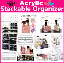 ~sales $2~ Acrylic Stackable cosmetics organizer jewelry Organizer Makeup box  Transparent Storage