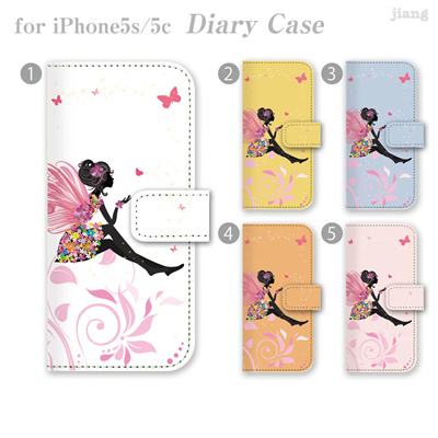 ジアン jiang ダイアリーケース 全機種対応 iPhone6 Plua iPhone5S iPhone5c iphone アイフォン 5s 5c AQUOS Xperia ARROWS GALAXY ケース case カバー スマホケース 手帳型 かわいい おしゃれ きれい フェアリー 22-ip5-ds0093-zen2 10P06May15の画像