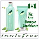 Innisfree New Green Tea Mint Fresh Shampoo 300ml [Oily hair type] /Conditioner 200ml [Oily hair type]
