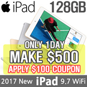 [MAKE $500 for iPad 9.7 128GB!!] Apple iPad 9.7 Wi-Fi 128GB | 5th Generation 2017 Model | Retina Display