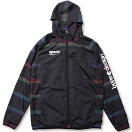 スパッツィオ(SPAZIO) Colorato confine Mountain jacket マウンテンパーカー 02:ブラック TP-0490 【サッカーウェア トレーニングウェア 練習着 スポーツ ウインドブレーカー】
