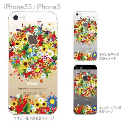 【iPhone5S】【iPhone5】【iPhone5sケース】【iPhone5ケース】【スマホケース】【クリア カバー】【クリアケース】【ハードケース】【着せ替え】【イラスト】【クリアーアーツ】【フラワー】 06-ip5s-ca0081の画像
