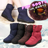 ★No option price★High Quality Waterproof Winter Warm padding fur boots fur/winter boots/shoes/winter shoes/ Snow Boots