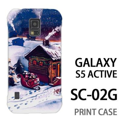 GALAXY S5 Active SC-02G 用『1223 サンタさん訪問中 水』特殊印刷ケース【 galaxy s5 active SC-02G sc02g SC02G galaxys5 ギャラクシー ギャラクシーs5 アクティブ docomo ケース プリント カバー スマホケース スマホカバー】の画像