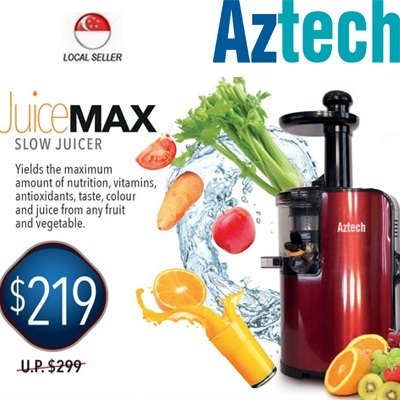 Qoo10 - [Aztech](SJ1000)JuiceMAX-Slow Juice Maker Auger Motion Technology Low ... : Home Electronics