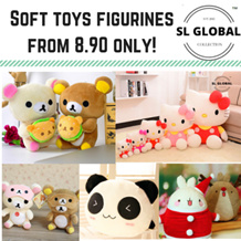 Soft toys plushies and figurines collection