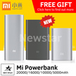 100% Authentic★Xiaomi Mi Power Bank 20000mAh 16000mAh 10000mAh 5000mAh PowerBank★