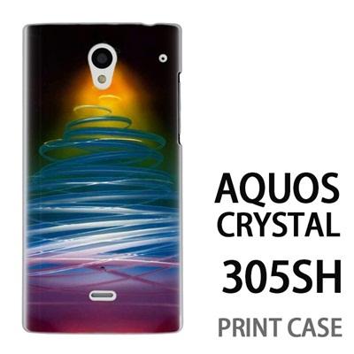 AQUOS CRYSTAL 305SH 用『1222 ネオンツリー 黄』特殊印刷ケース【 aquos crystal 305sh アクオス クリスタル アクオスクリスタル softbank ケース プリント カバー スマホケース スマホカバー 】の画像