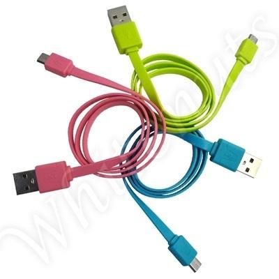 GALAXY Note 3 SCL22 マイクロUSB カラフル フラット ケーブル microUSB コード 通信 充電 ギャラクシーNote3 ギャラクシーノート3 スマートフォンの画像