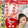 ★送料無料★28年産 宮城県産 つや姫 5kg×2 10kg 炊きたてでも冷めても美味しい万能なお米。