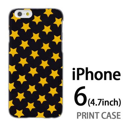 iPhone6 (4.7インチ) 用『0825 星黒黄 ドット』特殊印刷ケース【 iphone6 iphone アイフォン アイフォン6 au docomo softbank Apple ケース プリント カバー スマホケース スマホカバー 】の画像