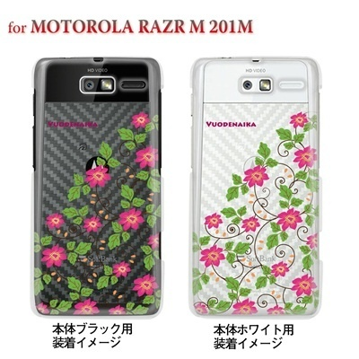 【MOTOROLA RAZR ケース】【201M】【Soft Bank】【カバー】【スマホケース】【クリアケース】【フラワー】【Vuodenaika】 21-201m-ne0002caの画像