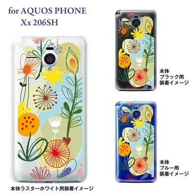 【AQUOS PHONE Xx 206SH】【206sh】【Soft Bank】【カバー】【ケース】【スマホケース】【クリアケース】【Vuodenaika】【フラワー】 21-206sh-ne0037caの画像