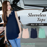 OB CLUB ★ OBDESIGN ★ ORANGEBEAR ★  BLINKERS V-NECK CHIFFON DESIGN TOPS  ★ S-XXXL SIZE ★ PLUS SIZE ★ VARIOUS COLOR ★ OFFICE ★ TRAVEL ★ WEEKEND ★ HOLIDAY ★ WORK ★ CASUAL ★ OL ★ COMFY