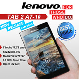LENOVO TAB2 A7-10 TABLET WITH GOOGLE PLAY/1.3GHz Quad-core 1GB RAM Android 4.4/Best price android tablet/New release on Jan 2015