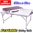 Light Weight Portable Foldable Aluminium Table 120cm x 60cm / Picnic Portable Home Office Folding Table
