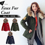 OB CLUB ★ OBDESIGN ★ IMODA ★ FAUX FUR LONG SLEEVE HOODED PARKA COAT ★ S-XXXXL SIZE ★ PLUS SIZE ★ VARIOUS COLOR ★ OFFICE ★ TRAVEL ★ WEEKEND ★ HOLIDAY ★ WORK ★ CASUAL ★ OL ★ COMFY