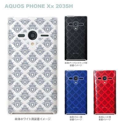 【AQUOS PHONEケース】【203SH】【Soft Bank】【カバー】【スマホケース】【クリアケース】【クレスト】 06-203sh-ca0021gの画像