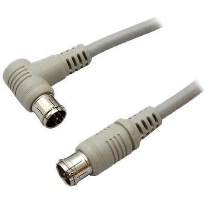 【クリックで詳細表示】3Aカンパニー デジタル放送対応4Cアンテナケーブル 10m ストレート⇔L型 ニッケルプラグ S4CFB100SL
