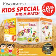MIX N MATCH (KIDS VERSION) - Superfood+ Kids 500gx3 / Superfood Kids 10sx3 / Be Sharp Kids 30s x 3