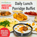 Daily Lunch Porridge Buffet with 24 dishes and free flow of drinks at iSteamboat Chinese Restaurant + Ice Cream Buffet. (Marina Square)