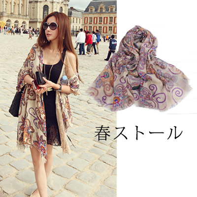 Qoo10お出かけ 多機能 春ストール海外旅行のスカーフ大判 マフラー韓国のファッション