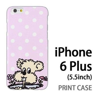iPhone6 Plus (5.5インチ) 用『0313 DOGドット ピンク』特殊印刷ケース【 iphone6 plus iphone アイフォン アイフォン6 プラス au docomo softbank Apple ケース プリント カバー スマホケース スマホカバー 】の画像