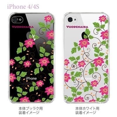 【Vuodenaika】【iPhone4/4Sケース】【カバー】【スマホケース】【クリアケース】【フラワー】 21-ip4-ne0002caの画像