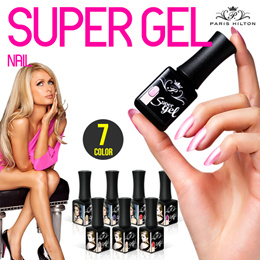 [Paris Hilton Super Gel]★7Color Gel Nail★LED Lamp/One minute color curing system/removed very easily/1minute automatic setting LED lamp