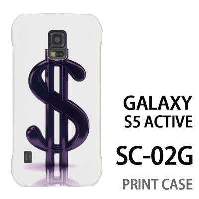GALAXY S5 Active SC-02G 用『1223 ドル 黒』特殊印刷ケース【 galaxy s5 active SC-02G sc02g SC02G galaxys5 ギャラクシー ギャラクシーs5 アクティブ docomo ケース プリント カバー スマホケース スマホカバー】の画像