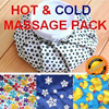 Cold and Hot Packs/Waterproof Ice Bag Hot/Cold Pack for Helth Home Self Massage Hot/Cold Water Bag