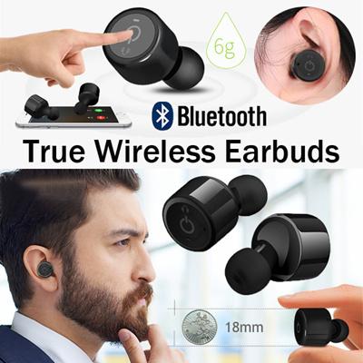 qoo10 true wireless earbuds tws x2t mini cordless. Black Bedroom Furniture Sets. Home Design Ideas