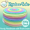 [H and J Cake Shop] - Premium Cream Rainbow cake. Introductory Promotion. Store pic up at Yishun/Woodlands or Suntec City